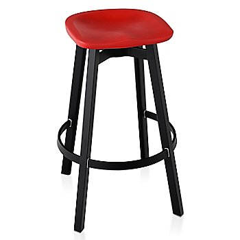 Red seat color with Black Anodized Aluminum base finish/ Bar Height