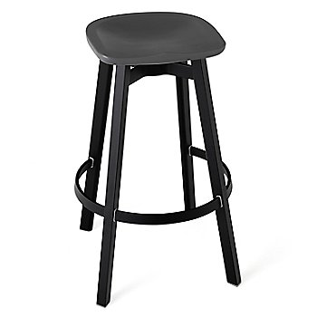 Charcoal seat color with Black Anodized Aluminum base finish/ Bar Height