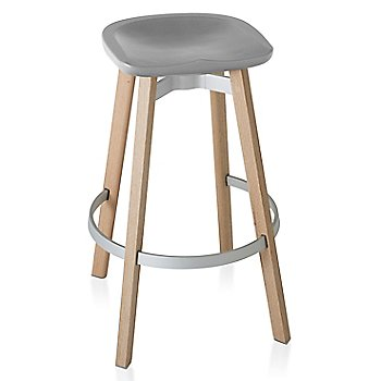 Flint seat color with Wood base finish/ Bar height