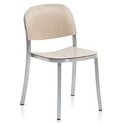 1 Inch Stacking Chair, Wood Seat and Back