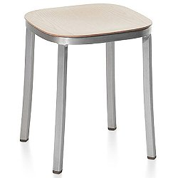 1 Inch Small Stool, Wood Seat