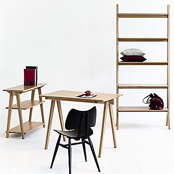 Pictured with the Pero Desk, Pero Shelving Unit and the Originals Butterfly Chair (sold separately)