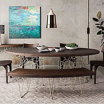 Lifestyle, shown with Ario Dining Chairs, Bench, and Console