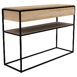 Oak Monolit Console Table