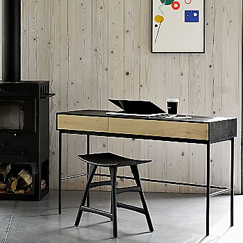 Oak Desk - 2 Drawers with Osso Stool