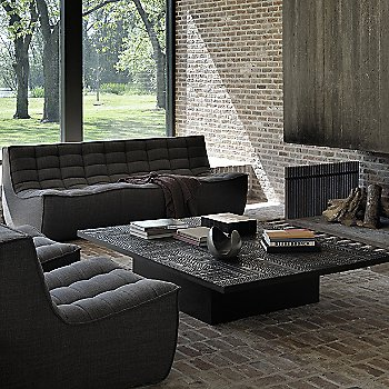 Ancestors Tabwa Blok Coffee Table with N701 3 Seater Sofa and N701 1 Seater Sofa