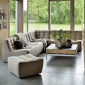 N701 Sofa Ottoman with N701 Corner Sofa and N701 3 Seater Sofa