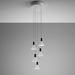 Polair Multispot 5-Light Round Pendant Light