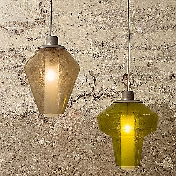Shown lit with Metal Glass 1 Pendant