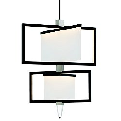 Folio 2-Tier LED Chandelier