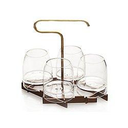 Rare Presenter and Whiskey Glasses - Set of 4