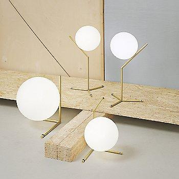 Brass finish / in use / Illuminated