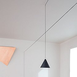 String Light Cone Pendant Light