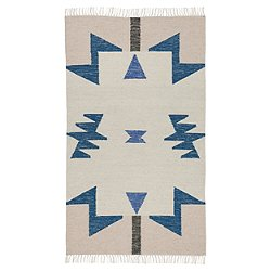 Kelim Rug - Blue Triangles