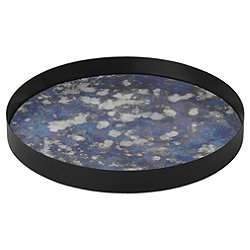 Coupled Round Tray by Ferm Living (Blue/L) - OPEN BOX RETURN