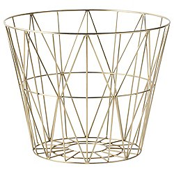 Wire Basket by Ferm Living (Brass/Large) - OPEN BOX RETURN