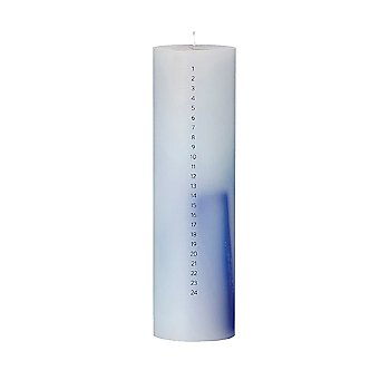 Blue Calendar Candle -Closeout