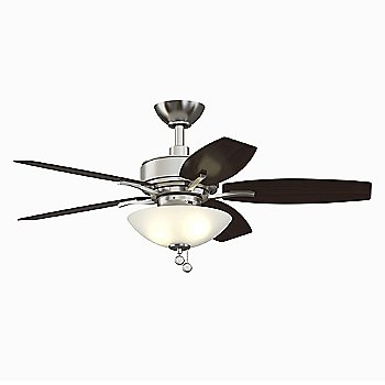 Brushed Nickel Fan Body with Cherry Blade finish / 44 Inch / Light Kit