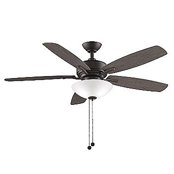 Matte Greige Fan Body with Weathered Wood Blade finish / 52 Inch / Light Kit