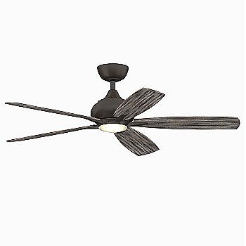 Matte Greige Fan Body with Weathered Wood Blades finish