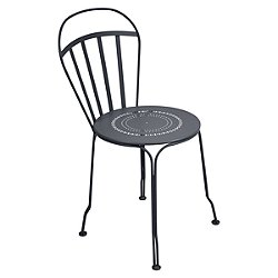Louvre Stacking Side Chair Set of 2 (Anthracite) - OPEN BOX