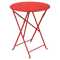 Bistro Round Folding Table (Capucine Matte/38 In) - OPEN BOX