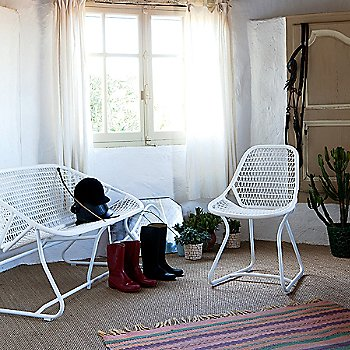 Sixties Side Chair with Sixties Bench