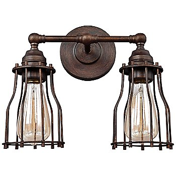 Shown in Parisian Bronze finish, 2 Light