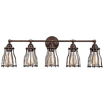 Shown in Parisian Bronze finish, 5 Light