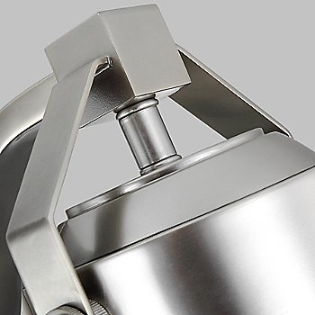 Painted Brushed Steel finish, detail