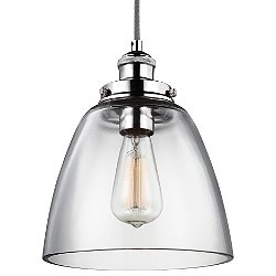 Baskin Dome Nickel Pendant Light