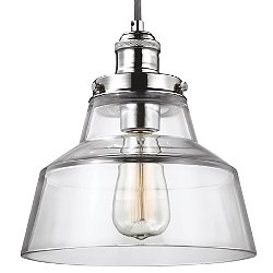 Baskin Chimney Nickel Pendant Light