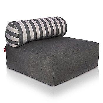 Shown in Dark Grey, Stripes pillow