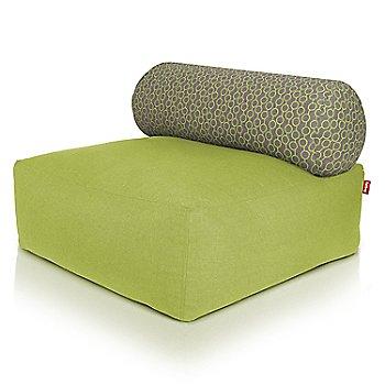 Shown in Green, Circles Green pillow