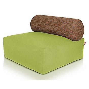 Shown in Green, Circles Orange pillow