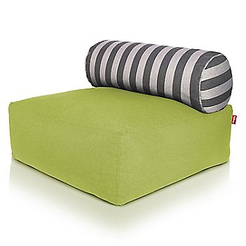 Shown in Green, Stripes pillow