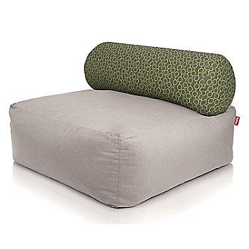 Shown in Light Grey, Circles Green pillow
