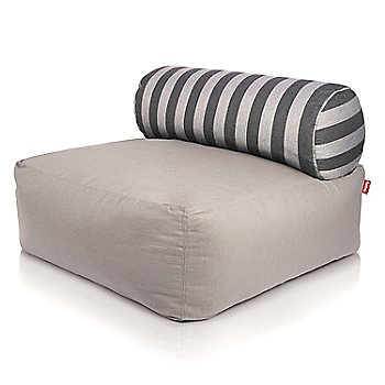 Shown in Light Grey, Stripes pillow