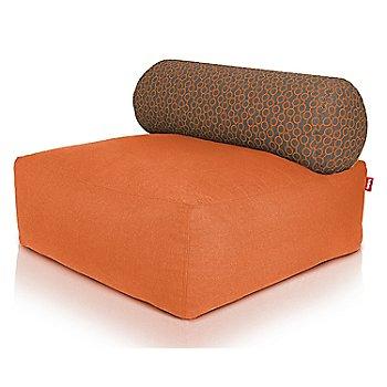 Shown in Orange, Circles Orange pillow