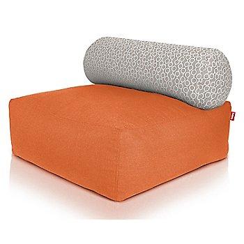 Shown in Orange, Circles White pillow