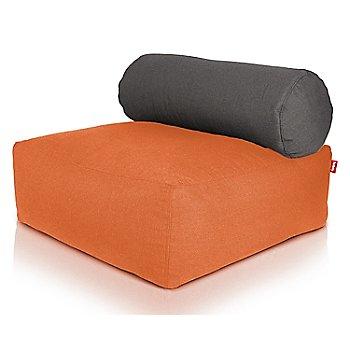 Shown in Orange, Dark Grey pillow