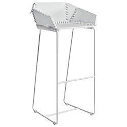 Textile High Stool with Backrest