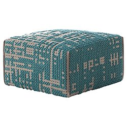 Canevas Square Abstract Pouf