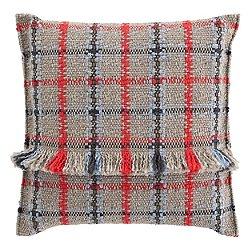 Garden Layers Outdoor Tartan Big Pillow