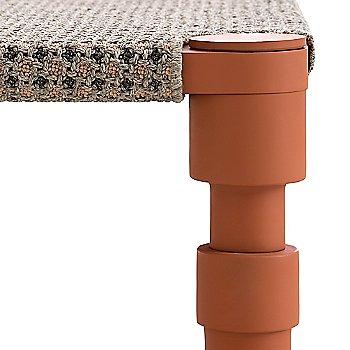 Terracotta color, detail