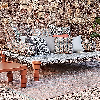 Terracotta color, in use in outdoor