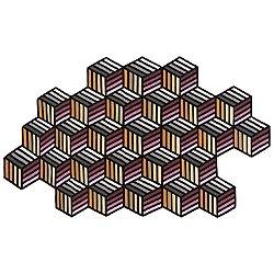 Kilim Parquet Hexagon Rug (6 Ft. 2 In. X 10 Ft.) - OPEN BOX
