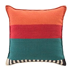 Rustic Chic Flower Square Pillow, Multicolor