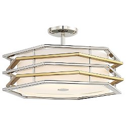 Levels LED Convertible Semi-Flush Mount / Pendant Light