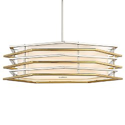 Levels LED Drum Shade Pendant Light